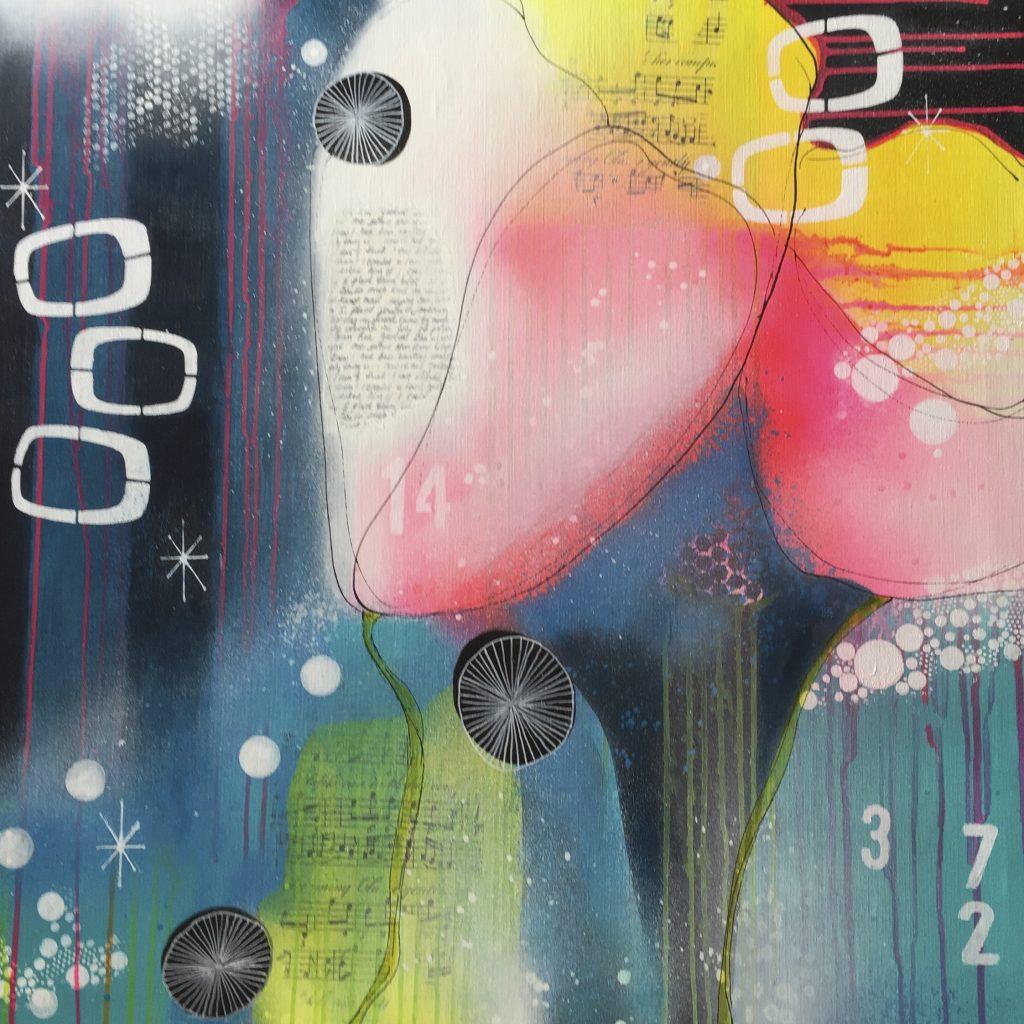 Pink tulipaner - h80 x b80 cm