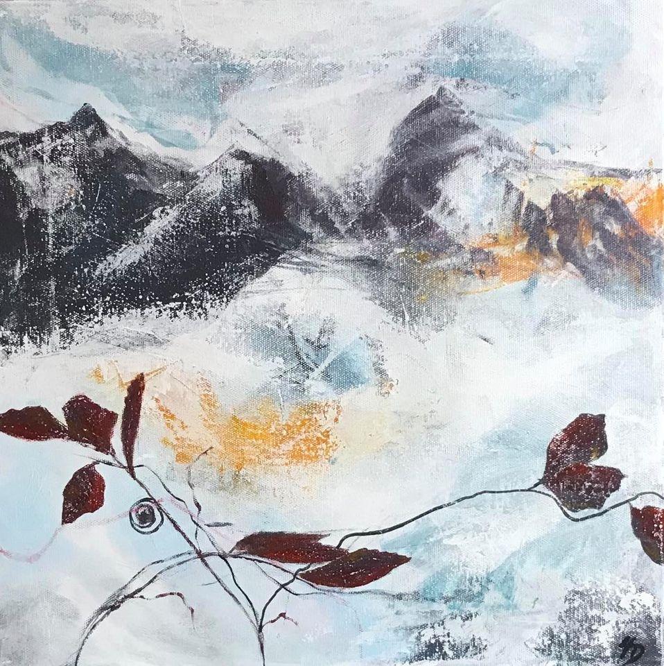 Abstrakt landskab 2-  h50 x b50 cm
