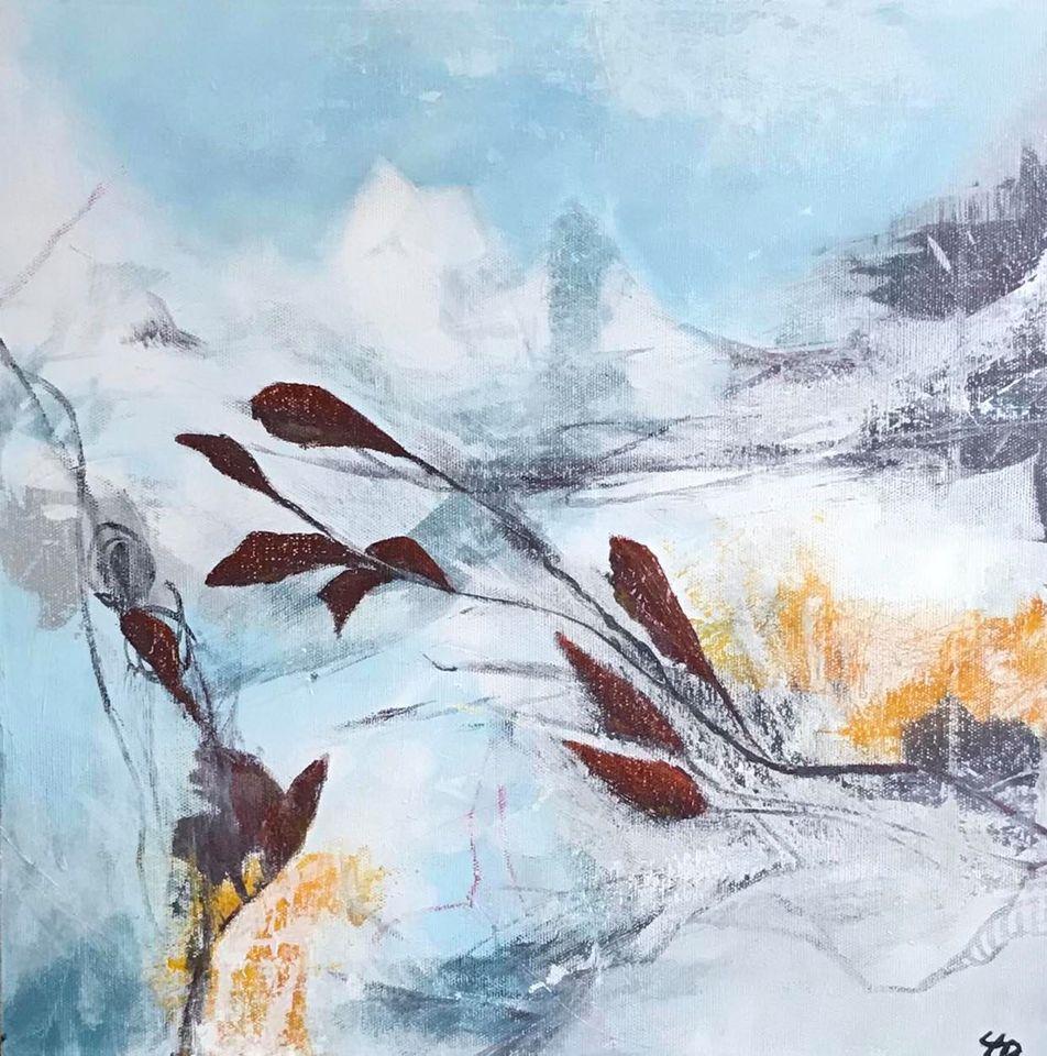Abstrakt landskab 1-  h50 x b50 cm